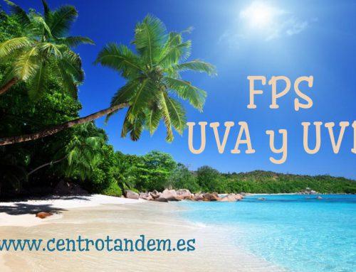Protección solar, rayos UVA y UVB