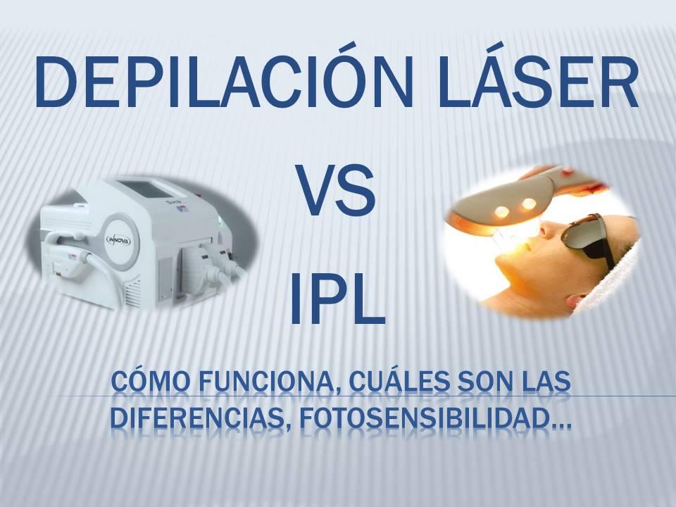 Depilación láser frente a la depilación por luz pulsada