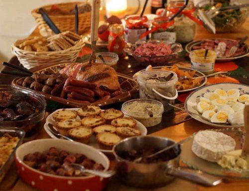 alimentación en fiestas